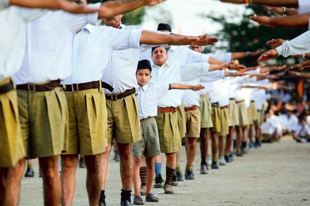 An RSS training camp. Photo: AFP